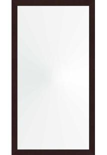 Espelho 58X108 Moldura 4Cm Reta Tabaco