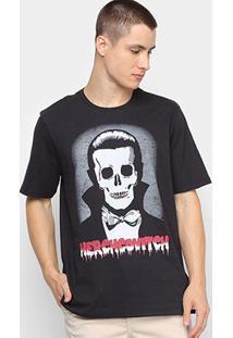 Camiseta Ellus Caveira Drácula Herchcovitch Masculina - Masculino