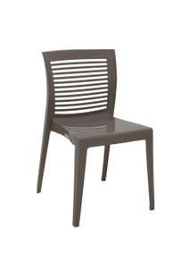 Cadeira Tramontina 92041210 Victória Com Encosto Vazado Camurça