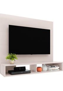 Painel Bancada Suspensa Para Tv Até 50 Pol. 120Cm Alpes Off White - Co