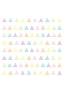 Adesivo De Parede Triângulos Aquarela 121Un Cobre 5M²