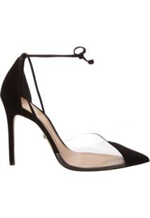 Scarpin Stiletto Lace Up Vinil Schutz S020910450