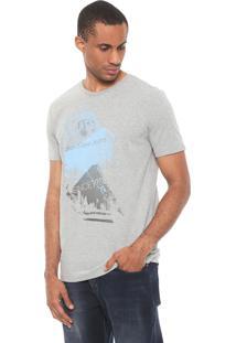 Camiseta Calvin Klein Jeans City Stripes Cinza
