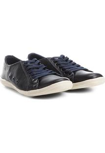Sapatênis Shoestock Couro Ii Masculino - Masculino-Azul