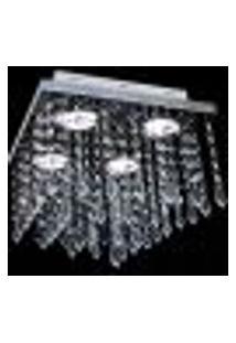 Lustre Cristal Quadrado Pirulito 28X28X28Cm - Jp/Atami/28