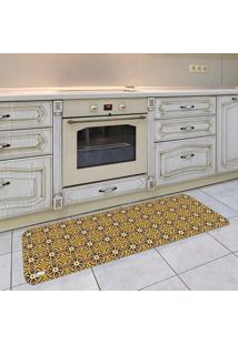 Tapete De Cozinha Mdecore Azulejo Amarelo 40X120Cm