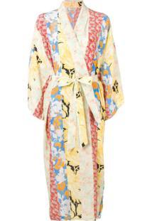 Stine Goya Vestido Pelerine Nat - Amarelo