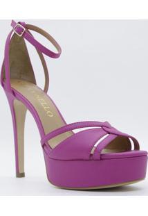 Sandália Meia Pata Acamurçada - Pink & Bege Claro - Cecconello