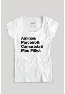 Camiseta Filho Camarada Fem Reserva Masculina - Masculino-Branco