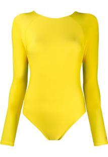 Perfect Moment Maiô Decote Costas - Amarelo