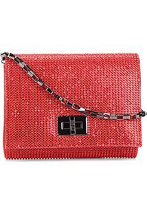 Bolsa Santa Lolla Mini Bag Cristal Feminina - Feminino-Vermelho