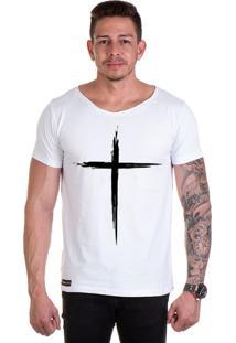 Camiseta Lucas Lunny T Shirt Gola Canoa Branca