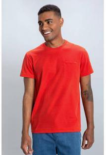 Camiseta Pocket Masculina - Masculino-Laranja
