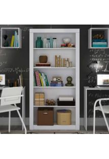 Estante Biblioteca Bl 01 Branco - Brv Móveis