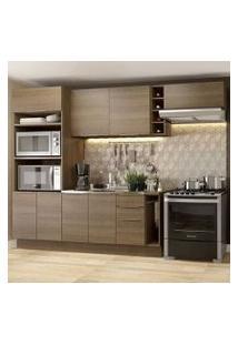 Cozinha Completa Madesa Stella 290002 Com Armário E Balcão Rustic Cor:Rustic
