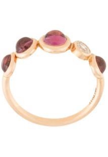 Myrto Anastasopoulou Anel De Ouro Rosê 18K Com Diamante E Turmalinas - Dourado