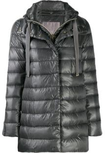Herno Padded Hooded Jacket - Cinza