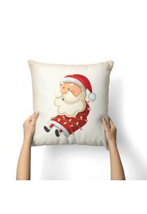Capa De Almofada Love Decor Avulsa Decorativa Papai Noel Preso