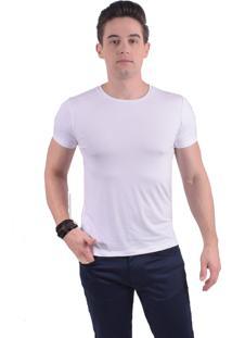 Camiseta Levok Branca Manga Curta Gola Redonda