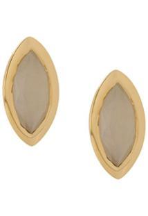 Astley Clarke Paloma Petal Stud Earrings - Dourado