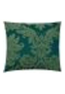 Capa Para Almofada Tecido Jacquard Estampado Verde - Drossi