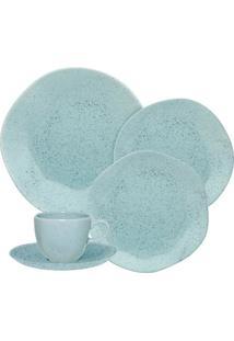 Aparelho De Jantar E Chá Oxford 30 Peças Ryo Blue Bay Azul Claro