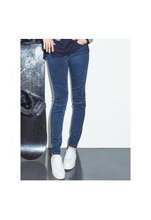 Calça Feminina Jeans Cinza Escuro