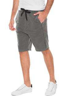 Bermuda Calvin Klein Jeans Reta Bolsos Cinza