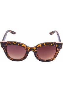 Óculos De Sol Flanela Marrom feminino   Gostei e agora  42b85b750b