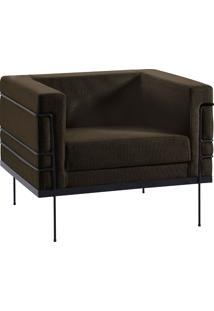 Poltrona Le Corbusier 1 Lugar 2064-1 Linhão – Daf Mobiliário - Marrom