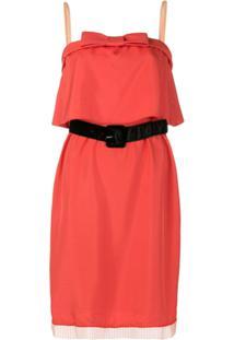 Marc Jacobs Vestido Estampado De Seda - Vermelho