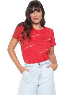 Camiseta Lez A Lez Lettering Vermelha