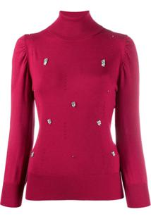Liu Jo Crystal Embellished Jumper - Vermelho