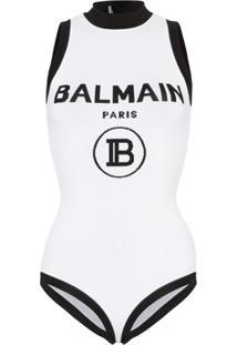 Balmain Body Com Logo - Branco