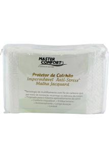 Capa Master Comfort Protetora Para Colchão Solteiro Impermeável Anti-Stress Branco
