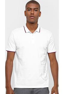 Camisa Polo Calvin Klein Piquet Frisos Color Masculina - Masculino