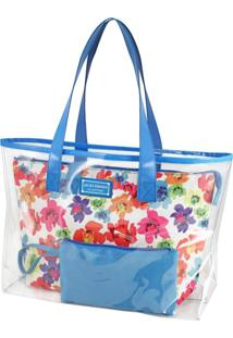 Bolsa Sacola Jacki Design Estampada Azul