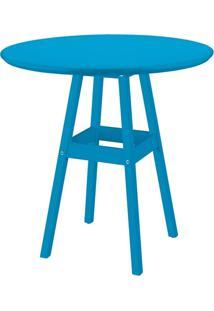 Mesa Pub 80 Cm Azul Madeira Maciça 91452080 Tramontina
