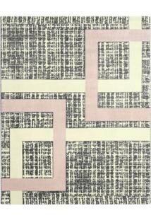 Tapete Classe A Geomã©Trico- Cinza Escuro & Rosa Claro
