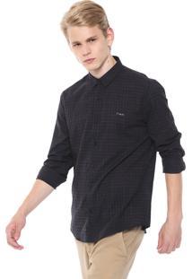 Camisa Calvin Klein Jeans Slim Fit Preta