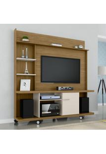 Estante Home Móveis Bechara Taurus Tv Até 47 Pol Cinamomo/Off White