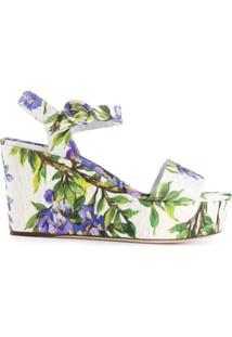 Dolce & Gabbana Sandália Floral - Colorido