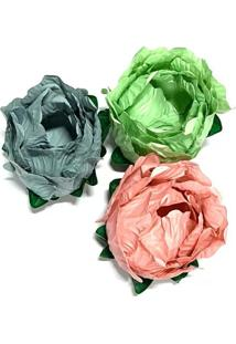 Forma Clariju Maly Paleta Supreme/Cinza/Azulado/Pistache/Rosa Goiaba Com Sépala Verde 24 Unidades