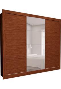 Guarda-Roupa Casal Com 1 Espelho Helena 3 Pt 8 Gv Marrom 277 Cm