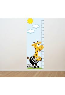 Adesivo Régua De Crescimento Girafa Santos Futebol (0,50M X 1,50M)