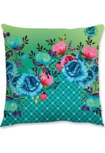 Capa De Almofada Renata Sader Dalila Azul E Verde 45X45Cm