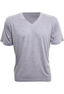 Camiseta Alma De Praia Gola V Mescla - Masculino