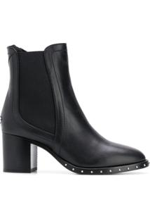 Jimmy Choo Ankle Boot De Couro 'Merril 65' - Preto