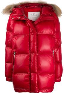Woolrich Hooded Puffer Jacket - Vermelho