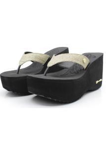 Tamanco Barth Shoes Sorvete Glitter Dourado